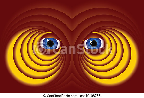 Eyes on a red background - csp10108758