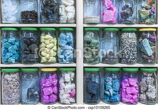 Mineral essences inside cystal tars. - csp10109265