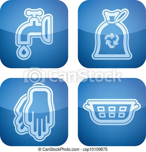 Ilustraciones vectoriales de art culos limpieza cocina - Productos limpieza cocina ...
