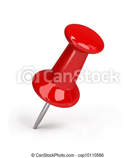 Red pushpin - csp10110566