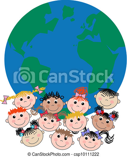 mixed ethnic children - csp10111222