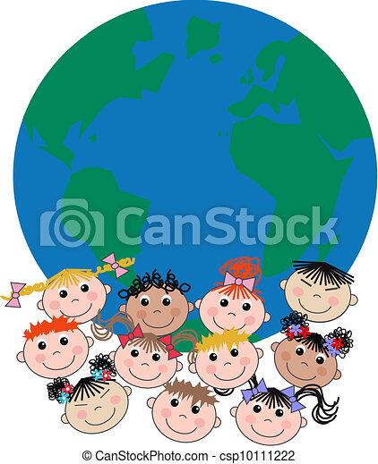 mixed ethnic children - csp10111222