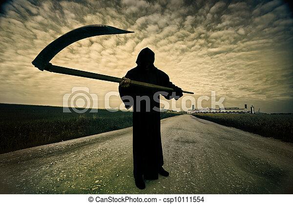 Grim Reaper on the road - csp10111554