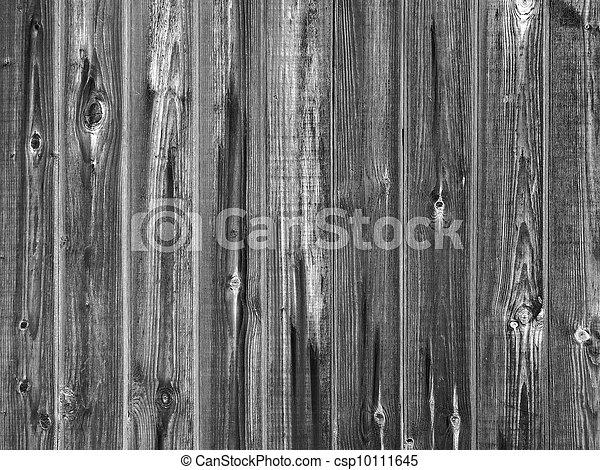 Monochrome wooden plank fence - csp10111645