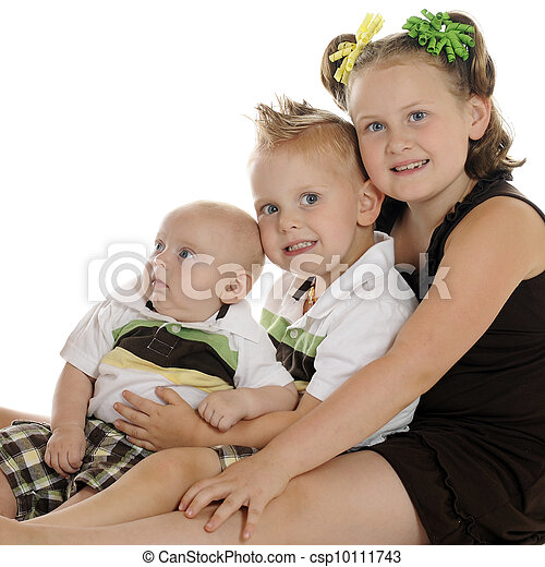 Bright Eyed Siblings - csp10111743