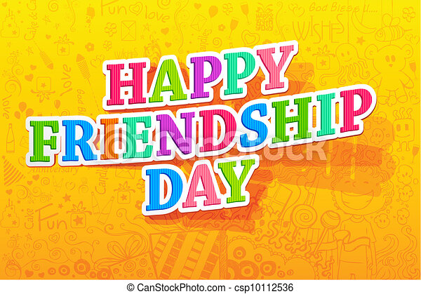Happy Friendship Day - csp10112536