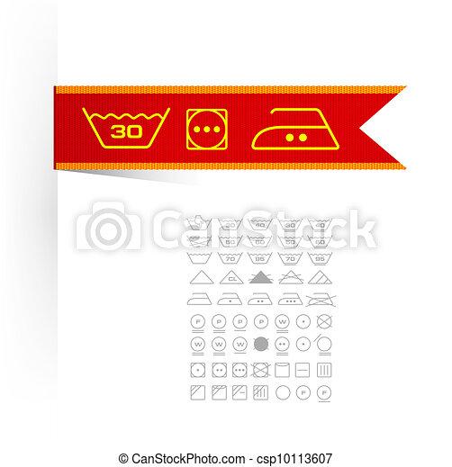 Illustration de symboles tiquette v tements symboles sur tiquette - Triangle sur etiquette vetement ...