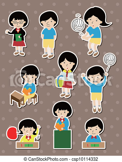 student stickers - csp10114332
