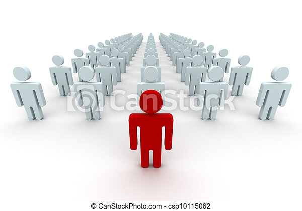 Conceptual image of teamwork. 3D image. - csp10115062