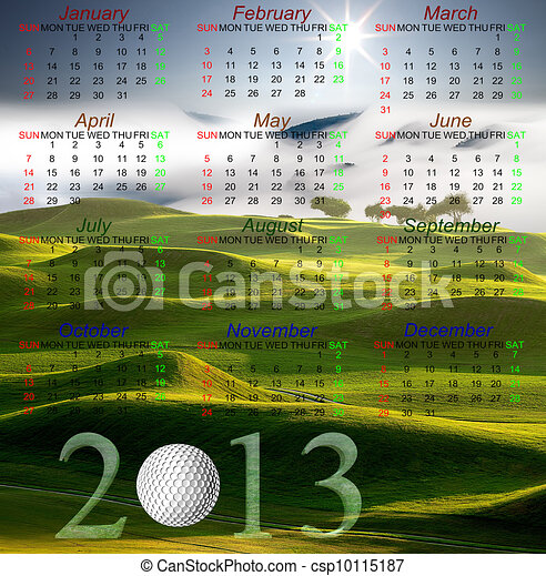 Golf Calendar of 2013 - csp10115187