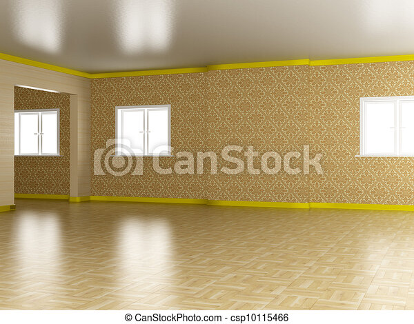 Empty room. A modern apartment. 3D image - csp10115466