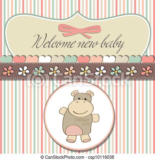childish baby shower card - csp10116038