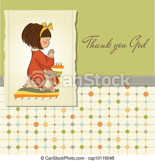 little girl praying - csp10116048
