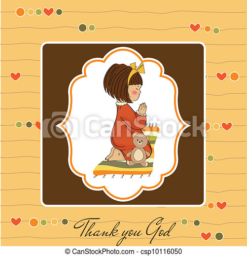 little girl praying - csp10116050