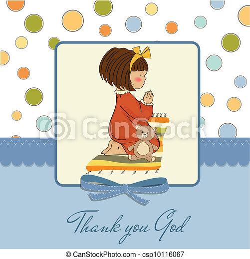 little girl praying - csp10116067