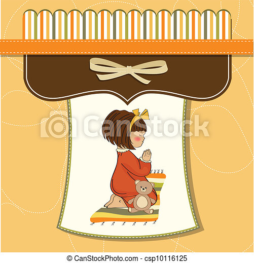 little girl praying - csp10116125