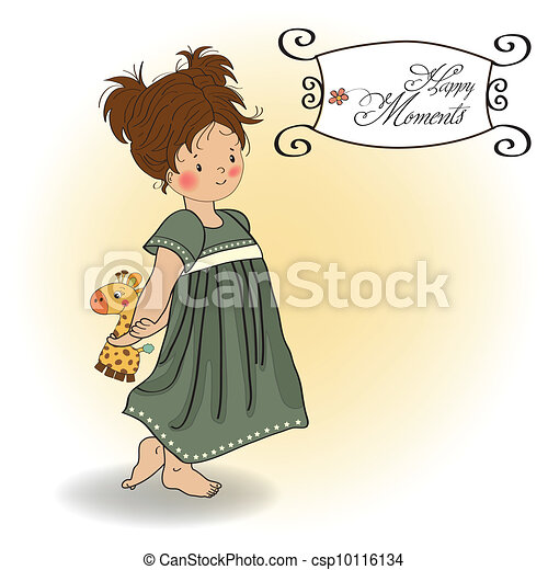 young girl going to bed - csp10116134