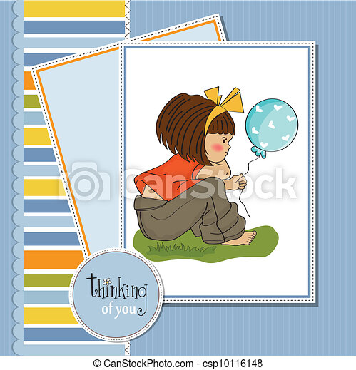 pretty young girl sitting - csp10116148