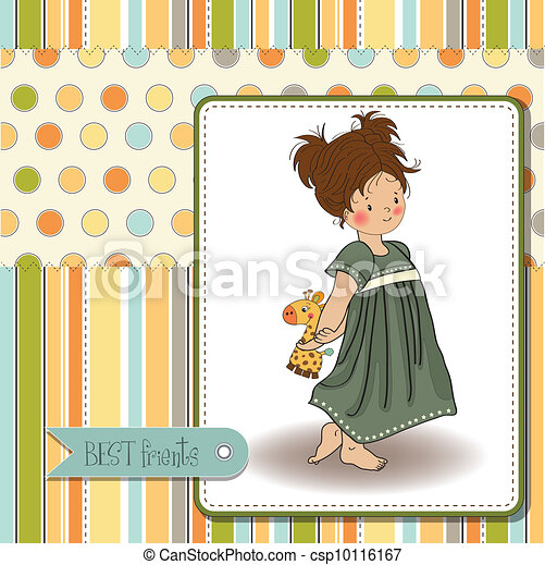 young girl going to bed  - csp10116167