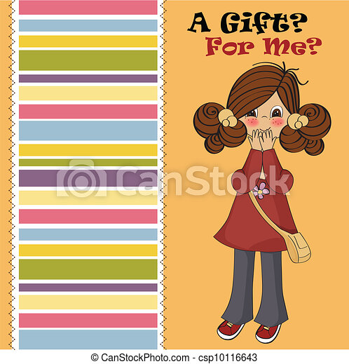 young girl surprised - csp10116643