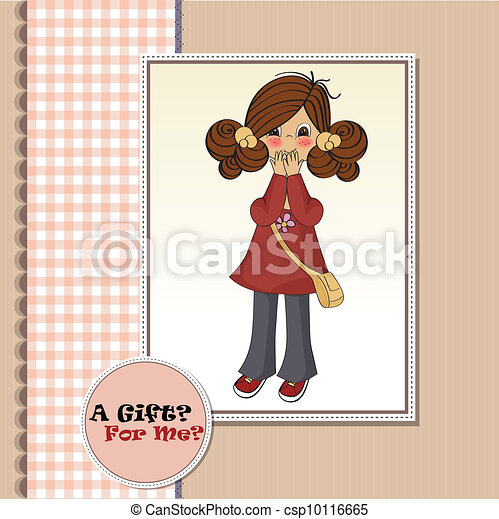 young girl surprised - csp10116665