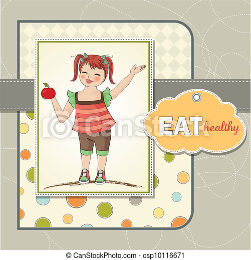 pretty young girl recommends health - csp10116671