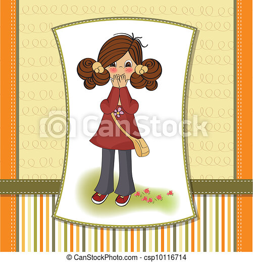 young girl surprised - csp10116714