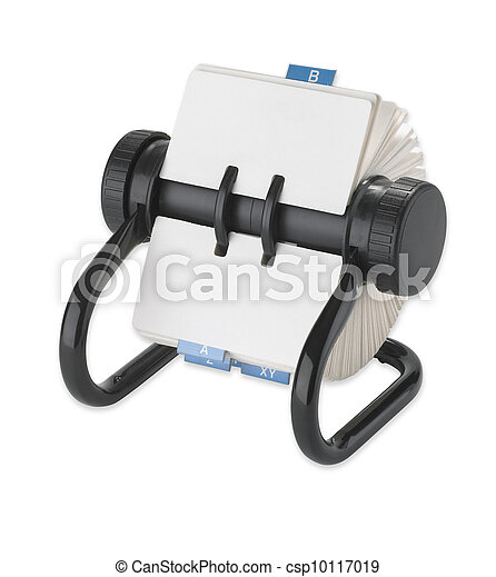 rolodex rotary card address desk organiser - csp10117019