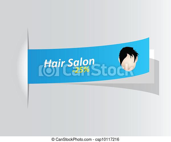 special hair salon promotional label - csp10117216