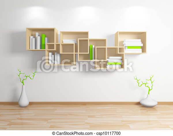 modern b cherregal stock illustration sofortiger. Black Bedroom Furniture Sets. Home Design Ideas