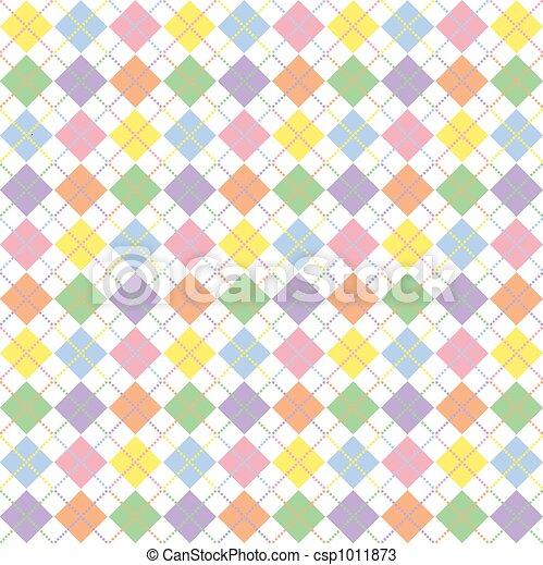 Pastel Rainbow Argyle Pattern - csp1011873
