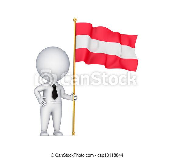 Dibujos de mano persona bandera peque o austr aco 3d - Dibujo bandera inglesa ...
