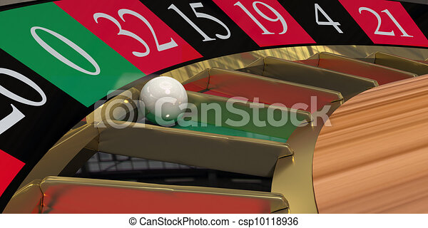 Roulette wheel close-up - csp10118936