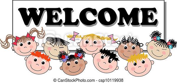 mixed ethnic children header - csp10119938