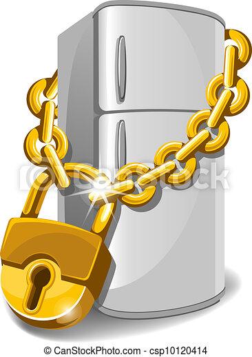 Locked fridge - csp10120414
