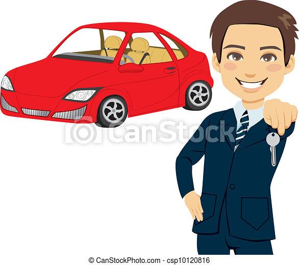 Young Automobile Salesman - csp10120816