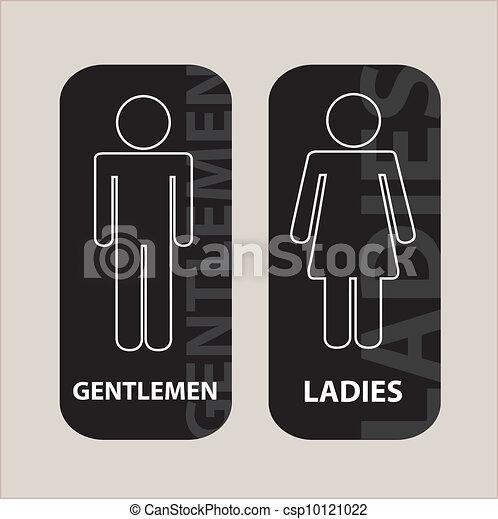 Logos para baños damas caballeros - Imagui