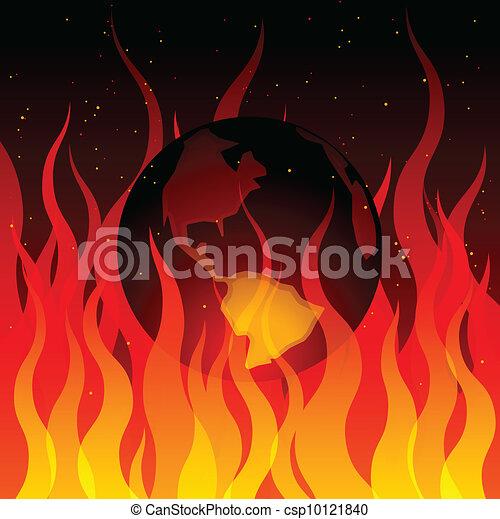 Global warming illustration - csp10121840