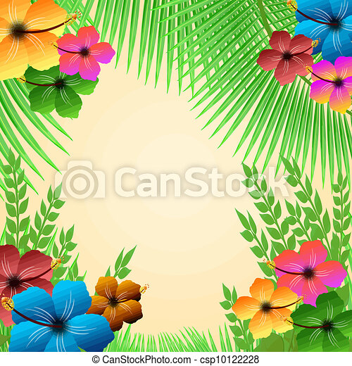 Tropical frame - csp10122228
