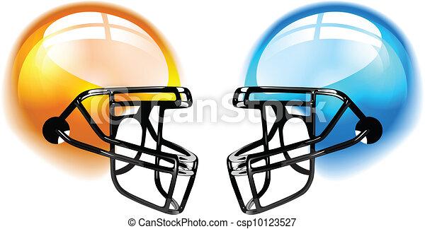 Football Helmets on white - csp10123527