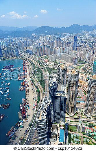 Hong Kong aerial view - csp10124623