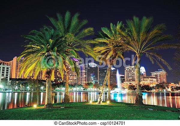 Orlando night scene - csp10124701