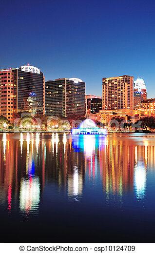 Orlando at night - csp10124709