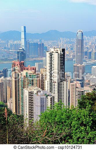 Hong Kong aerial view - csp10124731