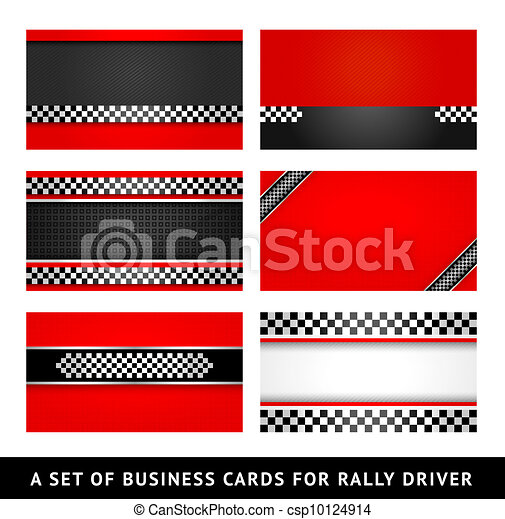 Business card - rally driver templates - csp10124914
