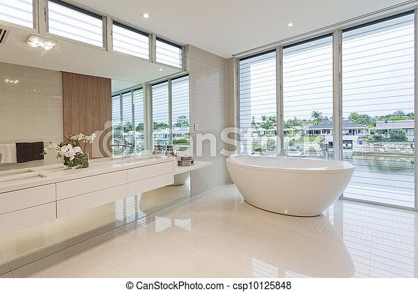 Stock Foto von badezimmer, luxus - Luxury, badezimmer, mit ... | {Luxus badezimmer modern schwarz 40}