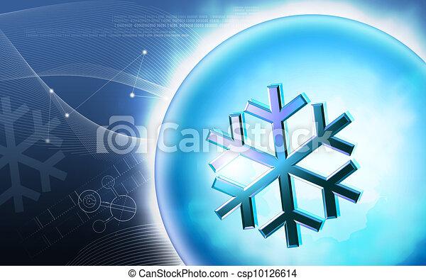 Low Temperature sign - csp10126614