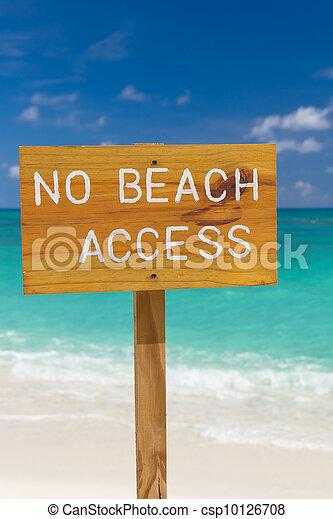No beach access sign - csp10126708