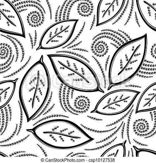 Floral seamless pattern - csp10127538