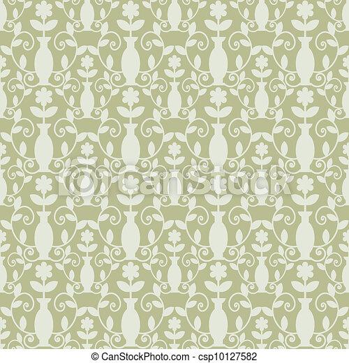 Grey damask - csp10127582